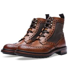 Buy the Barbour x Joseph Cheaney & Sons Rushton Brogue Boot in Almond Grain from leading mens fashion retailer END. - only Fast shipping on all latest Barbour products Gentleman Shoes, Gentleman Style, Men Dress, Dress Shoes, Retro Mode, Men S Shoes, Shoes Sneakers, Mode Style, Style Men