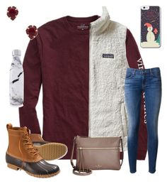 """""""Merry Late Christmas"""" by ctrygrl1999 ❤ liked on Polyvore featuring Vineyard Vines, L.L.Bean, Patagonia, Hudson, Kate Spade, S'well and Kendra Scott"""
