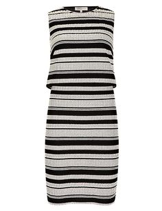 Striped Double Layer Fit & Flare Dress | M&S