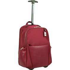 Women In Business Portofino Ladies Roller Backpack Rolling Backpack NEW - Business Backpacks - Ideas of Business Backpacks Rolling Bag, Rolling Backpack, Backpack With Wheels, Luggage Brands, Bags Uk, A 17, Business Women, Business Travel, Viajes