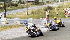 Graziano Rossi, Wil Hartog and Kenny Roberts at Imatra (Finland) Valentino Rossi 46, Super Bikes, Road Racing, The Good Old Days, Motogp, Grand Prix, Old Things, Gallery, Finland