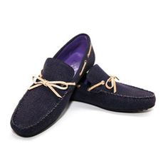 Bow Moccasin Men's Navy now featured on Fab.