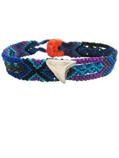 DEZSO BY SARA BELTRAN, Shark Tooth Mexican Silver Bracelet,