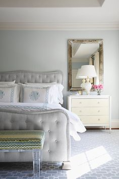 beautiful serene bedroom | Jan Jones LLC