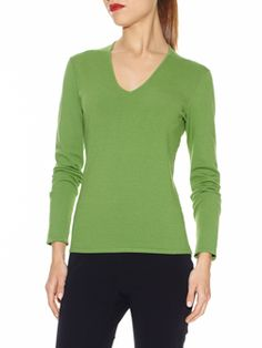 """V-Neck Sweater in Lush Stretch Viscose. Full length sleeves, . Unlined, 26"""". Hand wash in cold water,  . 72% VISCOSE, 28% POLYESTER Available in other colors.  Doncaster.com-W225SW33BAB."""