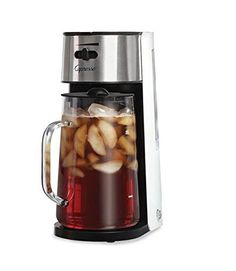 Capresso #624 Ice Tea Maker, White/Stainless