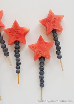 Firework Fruit Kabob   Patriotic 4th Of July Party Ideas You Can DIY On A Budget
