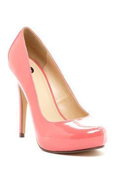 Petal pink pumps