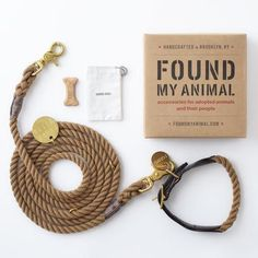 Found My Animal Natural Adjustable Rope Leash