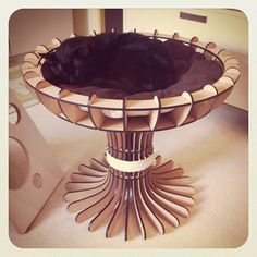 The Goblet Cat Bed from KittiCraft
