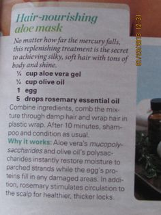 hair mask - tried this minus the rosemary oil because we didn't have any. - Har Care and Hairstyles Natural Hair Care, Natural Hair Styles, Diy Haircare, Herbs For Hair, Hollywood Hair, Healthy Hair Tips, Grow Long Hair, Soft Hair, Beauty Recipe