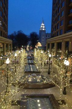 Salt Lake City during Christmas