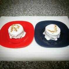 Breakfast suggestion: small light #biscuitcake #lowsugar #semihealthy / Sugestão de pequeno-almoço: pequenos #bolodebolacha light