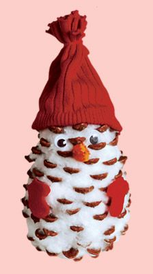 Pinecone Snowman - very cute -I think it looks more like an owl but still too cute