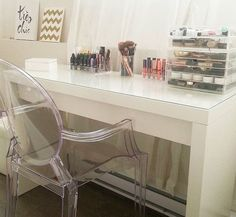 IKEA Malm vanity table. Perfect for doing hair/make-up. $149.00.