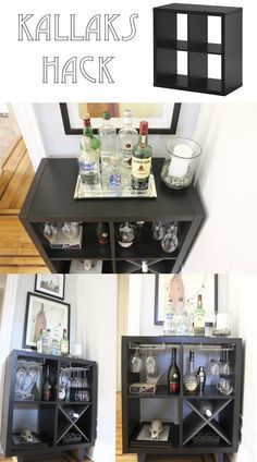 Ideas for home diy bar ikea hacks Home Bar Decor, Retro Home Decor, Diy Home Bar, Ikea Hacks, Diy Hacks, Ikea Bar Cart, Bar Carts, Diy Bar Cart, Bar Trolley