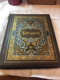 Antique German Book Loving Greetings 1882 Love Poems Illustrated  | eBay