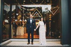backdrop  #refinery29  http://www.refinery29.com/green-wedding-shoes/7#slide-4  Huge smiles and clasped hands — a dream wedding photo.