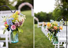 Romantic Rainbow :: ceremony aisle decor