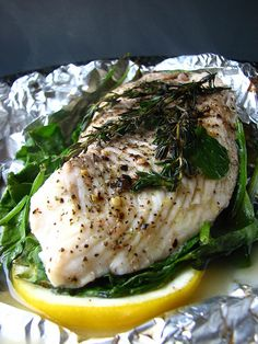 Sunday-Supper...Tilapia-With-Lemon-and-Spinach-fish-dish-easy-healthy