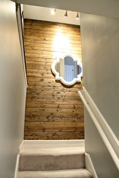 Thrifty Decor Chick: My New Favorite Wood Planked Wall