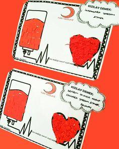 Kızılay Haftası Etkinliği | OkulöncesiTR-Preschool Preschool Kindergarten, Preschool Activities, School Teacher, Pre School, Blood Donation, Community Helpers, Business Design, Crafts For Kids, Education