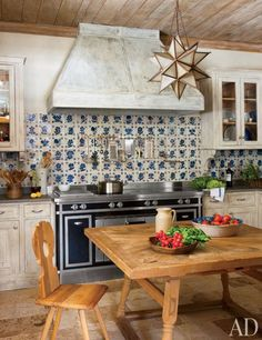 17th c. Portugese tile, Swiss table and chairs