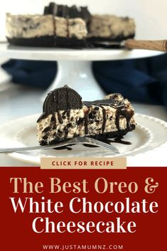Delicious no bake oreo cheesecake is so easy and tasty! With a white chocolate base and no gelatin it is the best around! #recipes #vanilla #creme #crushed #video #mini