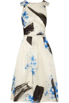 Yes, a sundress. But with all kinds of details and brushwork that makes it as right for evening as it is for day. Christopher Kane Printed silk-organza dress NET-A-PORTER.COM