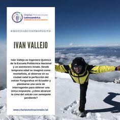 #conferencistasecuador: Hoy en #motivarconproposito presentamos a IVAN VALLEJO, Montañista,ecuatoriano, uno de los 7 seres humanos que ha logrado llegar a la cima de las 14 montañas sobre 8000 m sin oxigeno.  Contacto: +573103320785 Ecuador, Imagines, Ecards, Memes, Movie Posters, Art, Xmas, Volcanoes, Cities