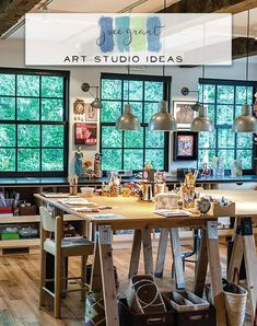 "Hey There! Welcome to Joanne Grant Art ""Art Studio Ideas"" Board. This is where you will find inspiration for dreamy art studio spaces."