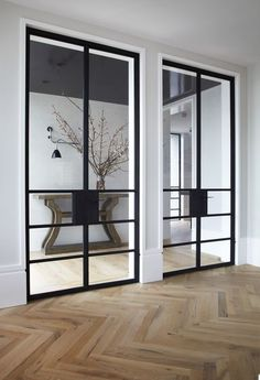 While a glass door competes tightly in a home décor realm, here's how to choose the right glass door design that'll fit your house. Australian Interior Design, Interior Design Awards, Interior Architecture, Interior And Exterior, Interior Glass Doors, Sliding Glass Doors, Style At Home, Steel Doors, Internal Doors