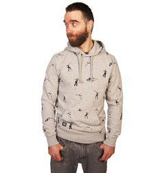 Men's Grey Marl Rebel V Empire All Over Print Pullover #Hoody from #Chunk xoxo