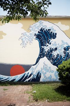 Japanese Wave Wall mural... wish I knew who did this!