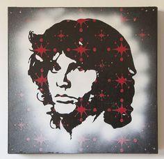 Jim Morrison Multilayer Graffiti Stencil Painting by AHgraFX, $85.00