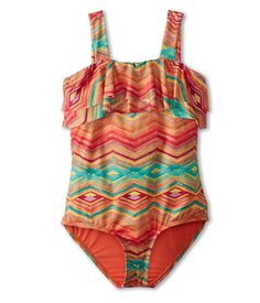 O'Neill Kids Sunsets One-Piece Swimsuit Tweens. Ships 1-Business Day Free!