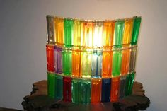 diy decor recycled ligters