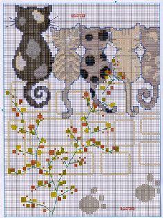 Z`(=∵=)` cross stitching, cat cross stitches, cross stitch embroi Cat Cross Stitches, Cross Stitch Charts, Cross Stitch Designs, Cross Stitching, Cross Stitch Embroidery, Embroidery Patterns, Cross Stitch Patterns, Crochet Cross, Cross Stitch Animals