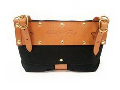 Handlebar Bag in Black. $95.00, via Etsy.
