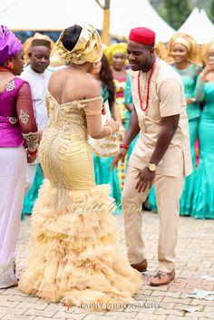 Ihuoma & Chukwuka Igbo Traditional Wedding in Mbaise, Imo State, Nigeria_BellaNaija Weddings Nigerian Wedding Dresses Traditional, Traditional Wedding Attire, African Traditional Wedding, Traditional Dresses, Traditional Weddings, African Attire, African Dress, African Wear, African Inspired Fashion