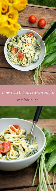 Low Carb Zucchininudeln mit Bärlauch