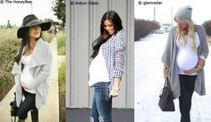 Ideal wardrobe of pregnancy: how to realize it? - Ideal wardrobe of pregnancy: how to realize it? Cute Maternity Outfits, Maternity Dresses, Maternity Fashion, Pregnancy Looks, Baby Love, Dressing, Celebs, Couture, Clothes For Women