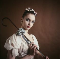 """New York City Ballet - studio portrait of Suzanne Farrell in """"Don Quixote"""", choreography by George Balanchine (New York)"""