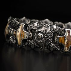Men's Jewelry: William Henry's two years in the making hand-forged ...