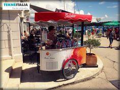 "@tekneitalia - Ice Cream Shop: ""Gusto Amore Gelateria"" - by #tekneitalia made in italy www.tekneitalia.com - Poreč, Croatia - Model: Procopio gelato cart"
