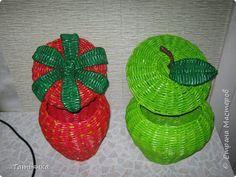Поделка изделие Плетение Мои фрукты и ягоды Трубочки бумажные фото 2