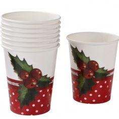Jolly Holly Cups #talkingtables #christmas