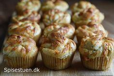 hvidloegssnurrer-19 Muffin, Dinner Recipes, Baking, Breakfast, Bread Making, Breakfast Cafe, Muffins, Patisserie, Backen