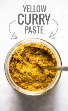 **This makes the best curry recipes I've ever had - so worth making homemade! HJK *** @ A pinch of yum. This Easy Homemade Yellow Curry Paste can be made with easy to find ingredients! 45 minutes = 4 batches of homemade curry. Indian Food Recipes, Asian Recipes, Vegetarian Recipes, Cooking Recipes, Healthy Recipes, Ethnic Recipes, Vegan Vegetarian, Quick Recipes, Healthy Food