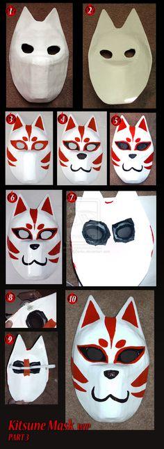 Kitsune mask WIP part 3  Artist DreamingZenko: http://dreamingzenko.deviantart.com/